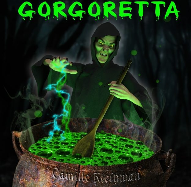 Gorgoretta Book Cover Example of using the Magic Energy Rays Photoshop Brushes by CG Elves