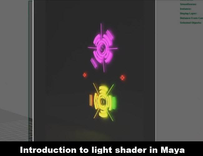 Introduction to light shader in Maya