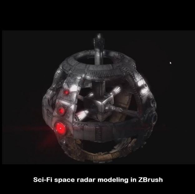 Sci-fi space radar modeling in ZBrush