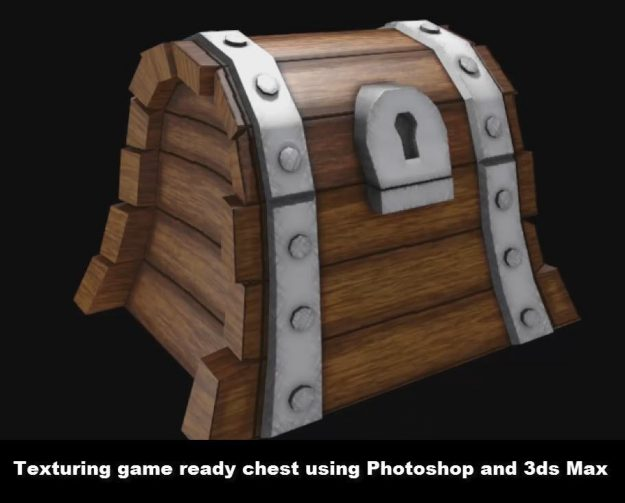 Texturing treasure chest in Photoshop and 3ds Max