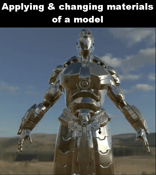 Applying & changing materials of a model