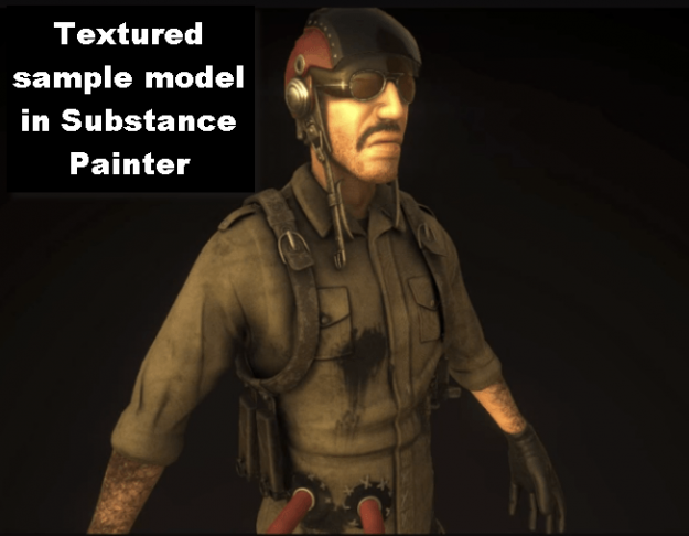 Textured sample model in Substance Painter