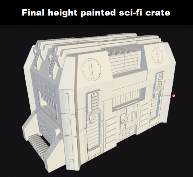 Final height painted sci-fi crate