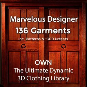 Marvelous Designer Garment Files Library Dynamic 3D Clothing Templates 136