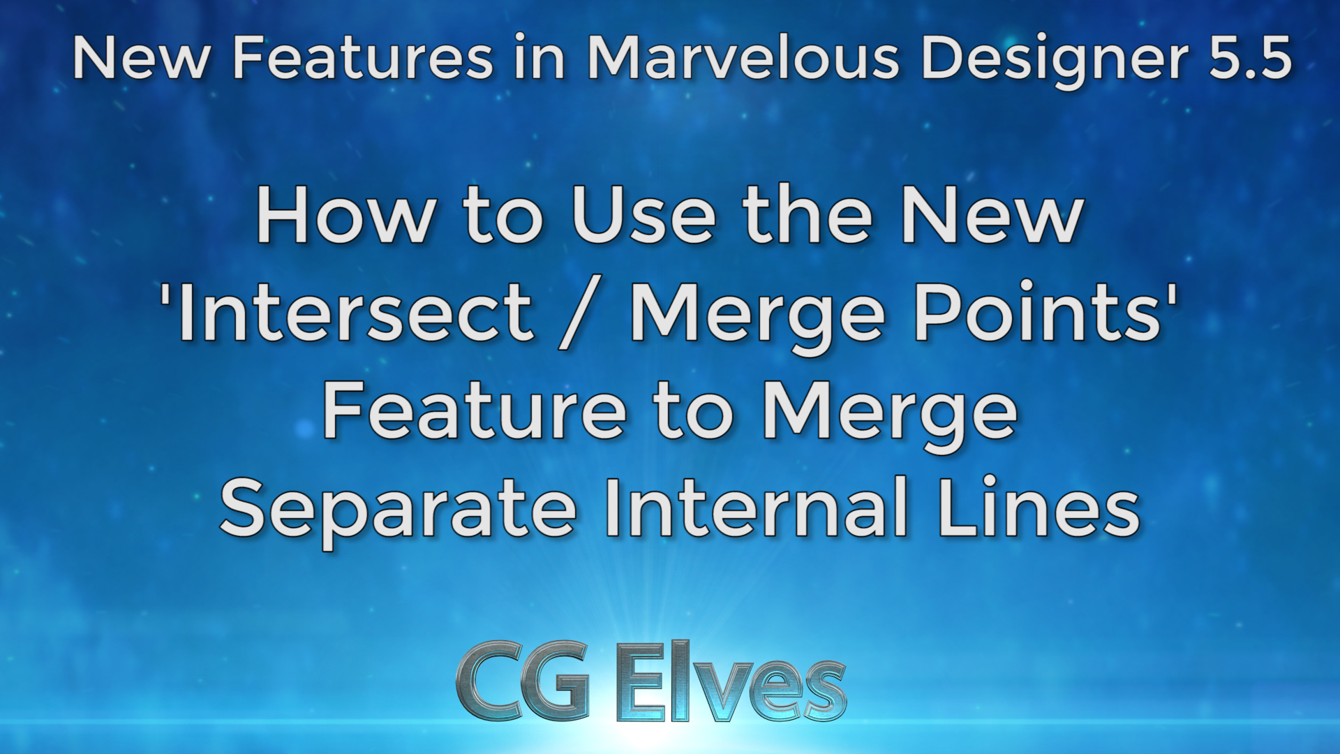Marvelous Designer 5.5 New Features Merge Internal Lines