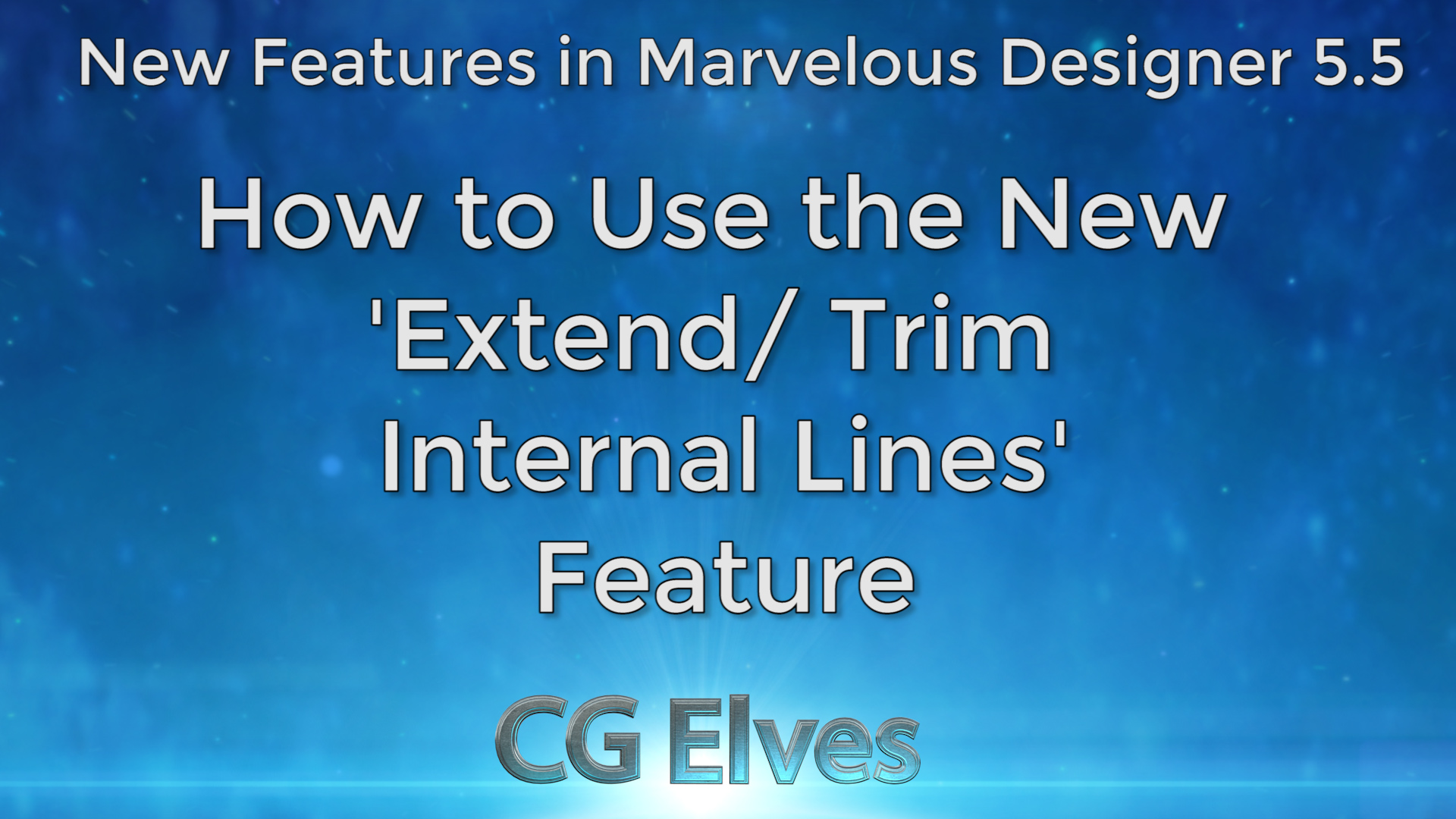 Marvelous Designer 5 beginner tutorial how to extend and trim internal lines