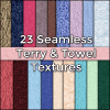 HiRes Realistic Seamless Terry Towel Cloth Fabric Textures Pack by CG Elves