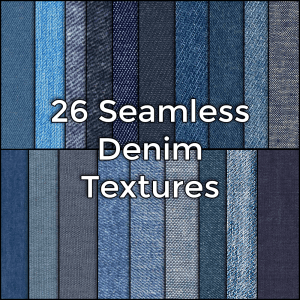 Realistic Seamless Denim Jeans Fabric Material Textures Pack by CG Elves