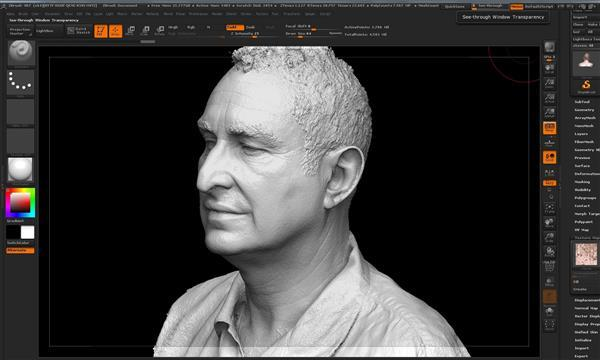 Ultra Hi Res 3D Digital Sculpture from 3D Scanning - in 4 seconds!