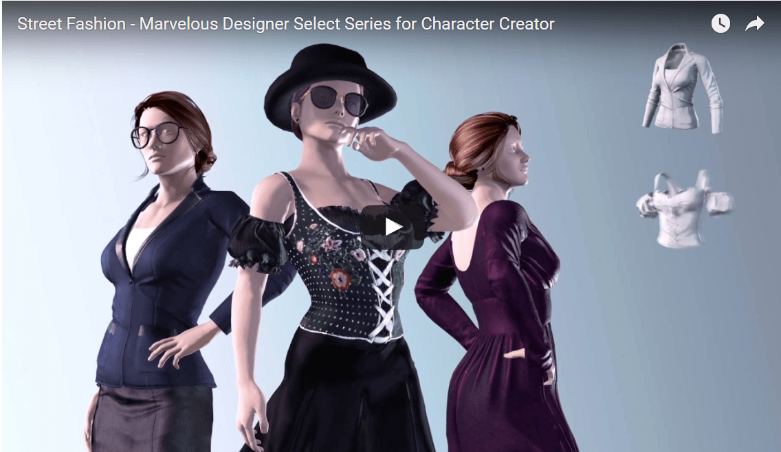 Reallusion Street Fashion Marvelous Designer Select Series for Character Creator