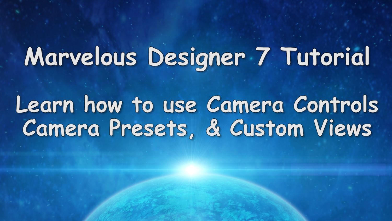 Marvelous Designer 7 Tutorial Camera Controls and Custom Views
