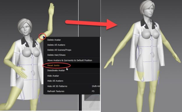Marvelous Designer Avatar Reset Pose