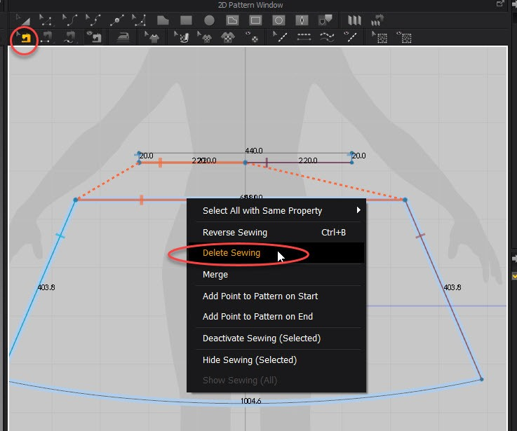 Marvelous Designer Delete sewing tutorial