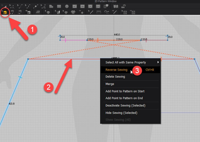 Marvelous Designer Reverse Sewing