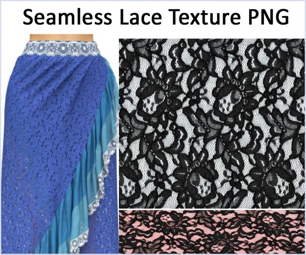 Free Marvelous Designer Lace Texture by Camille Kleinman