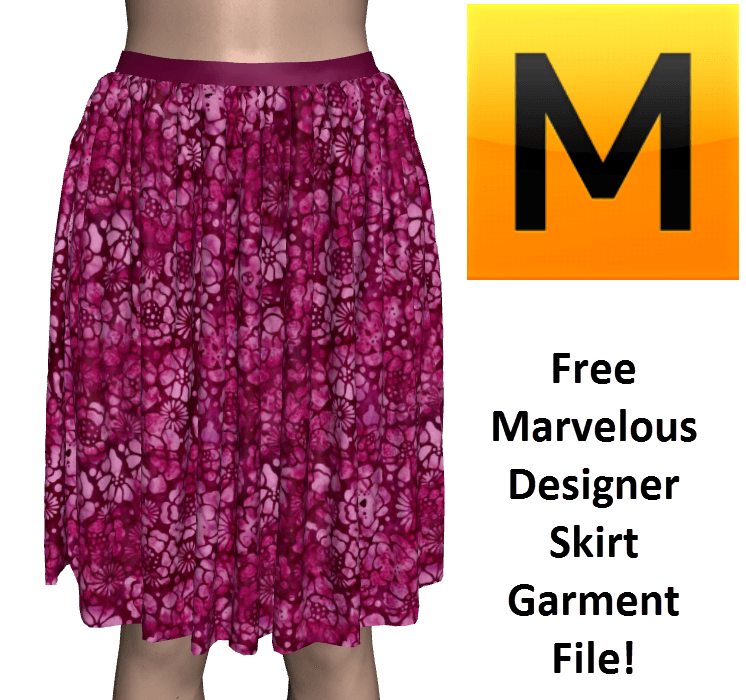 Free Marvelous Designer Skirt Garment File Template
