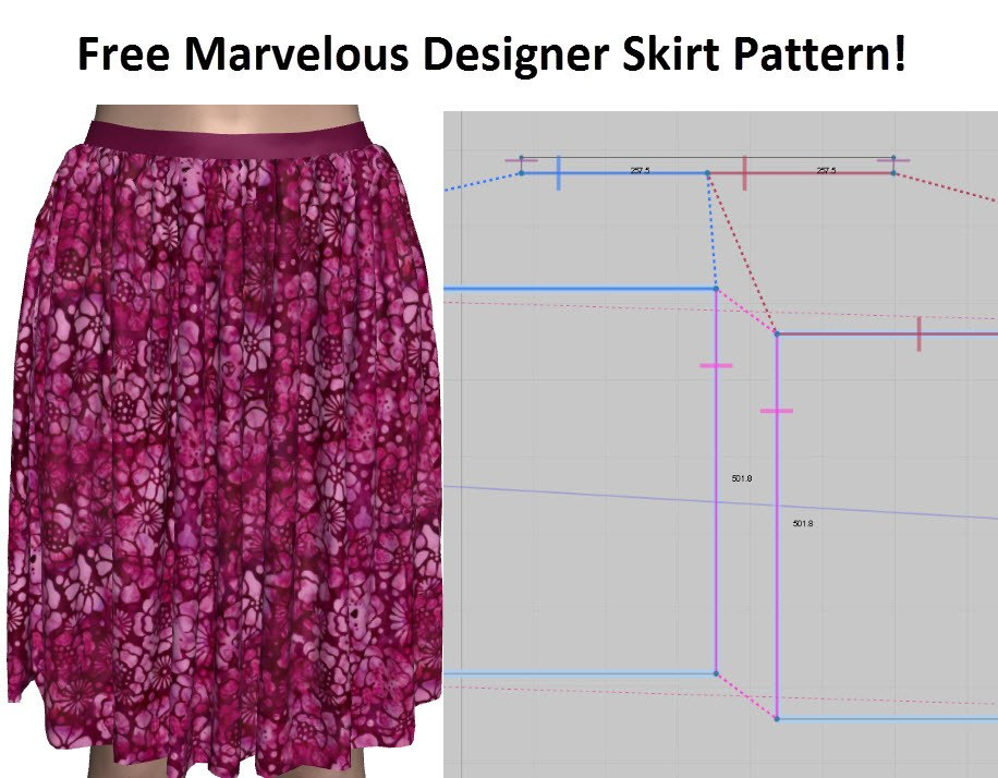 Free Marvelous Designer Skirt Pattern Template
