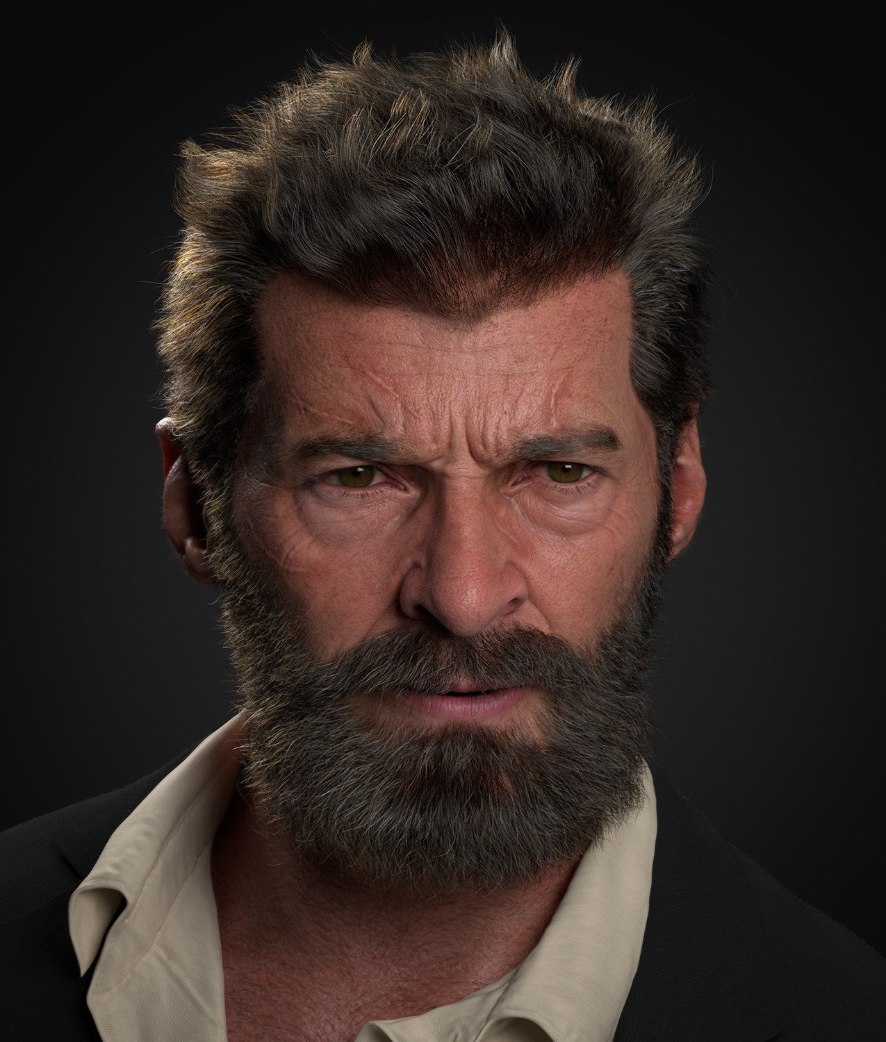 Logan 3D human model by Kubisi