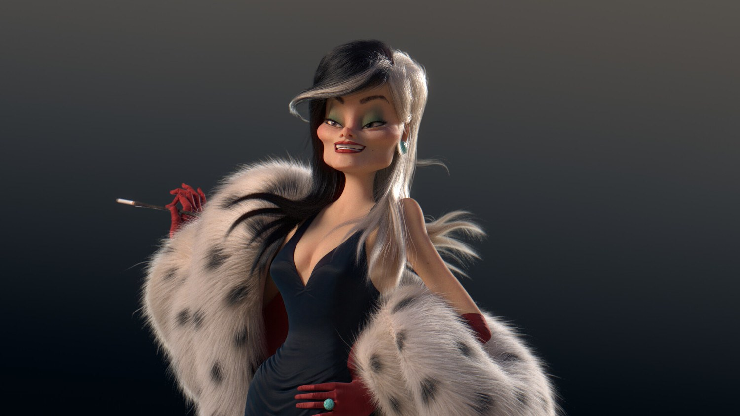 Mathilde cartoon 3D characters
